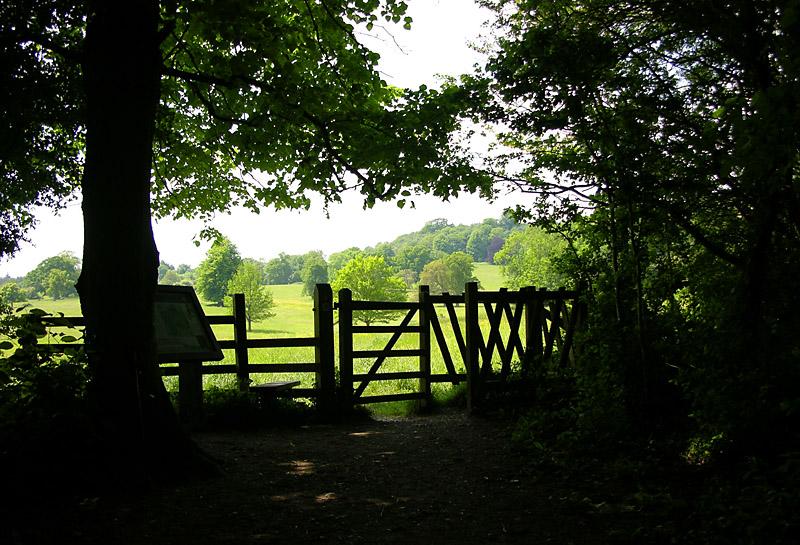 Dinton Park entrance...