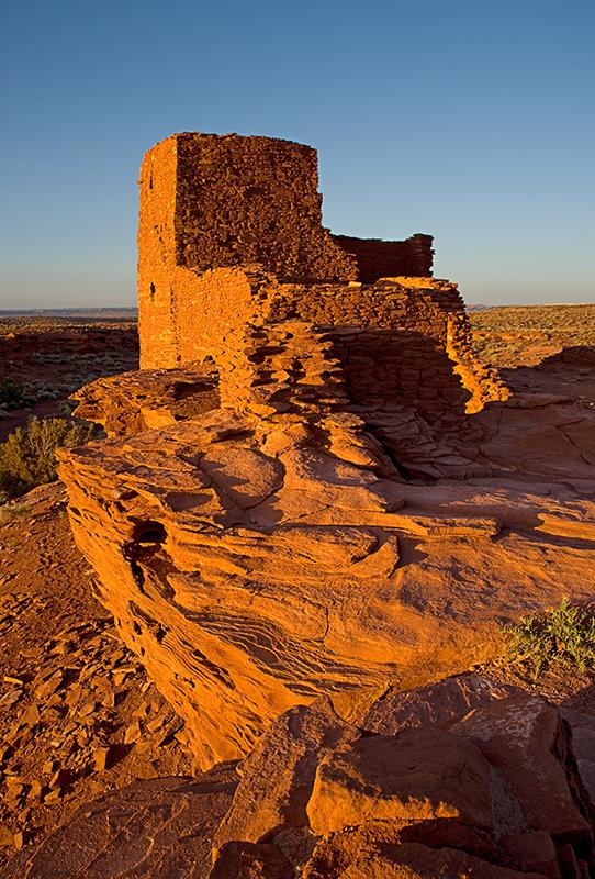 08-05 Sunset at Wukoki Pueblo  01.JPG