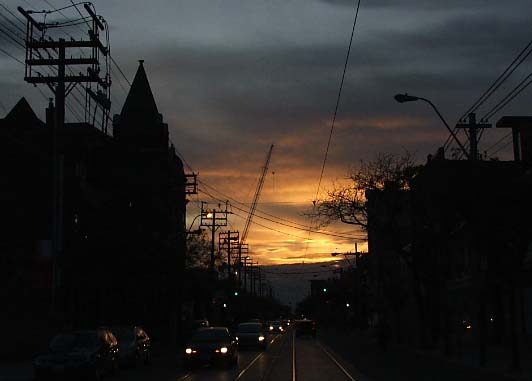 Queen West at Dusk