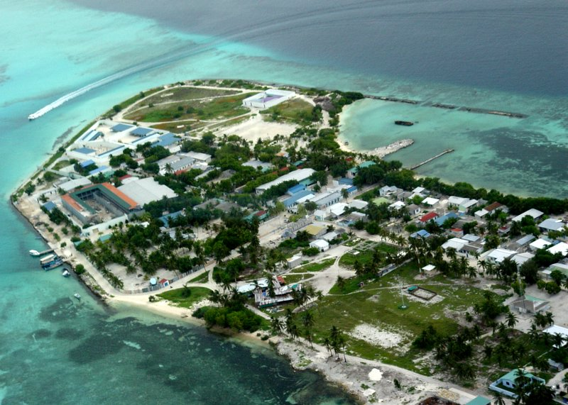 Inhabited island
