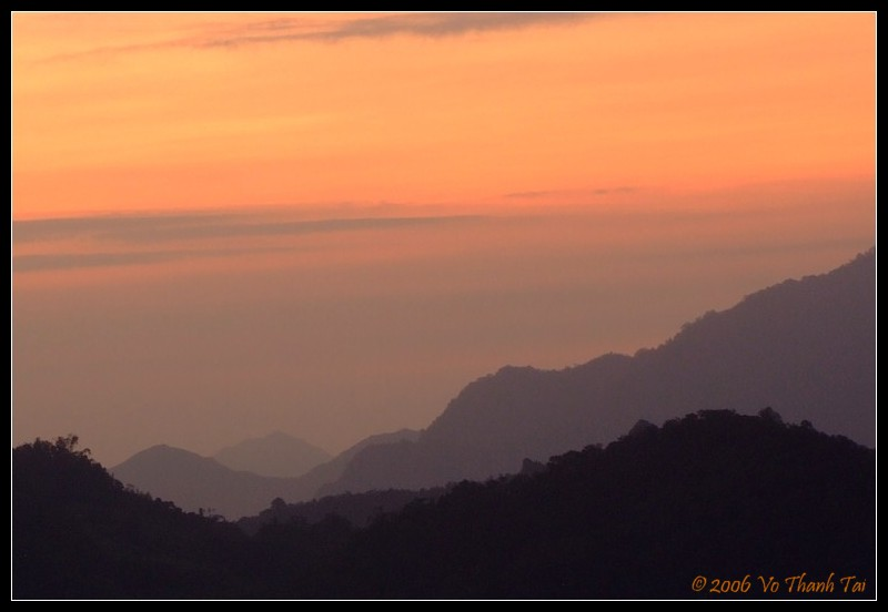 Sunrise over Banaues mountains