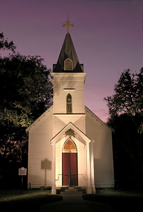 Goliad, Texas, night