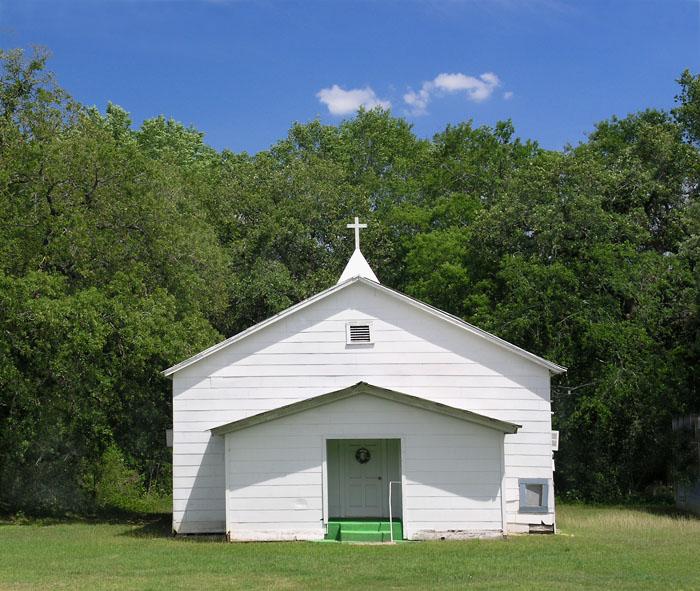 Church near Round Top, Texas