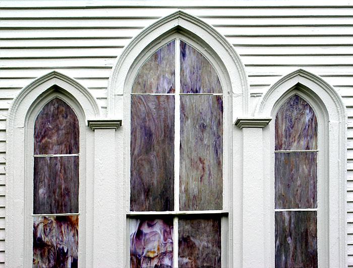 Church windows. Geddings, Texas