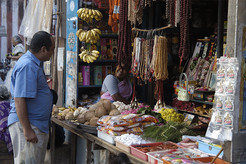 thhe  shop for temple  offerings