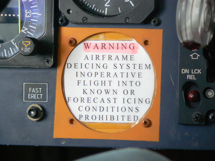 Sign in plane