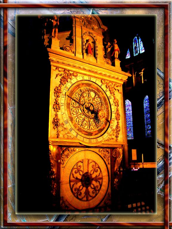 XIV Century Clock In Lion Cathedral