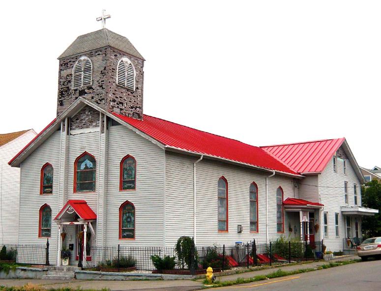 Mahanoy City, PA Church  - tattered steeple.jpg