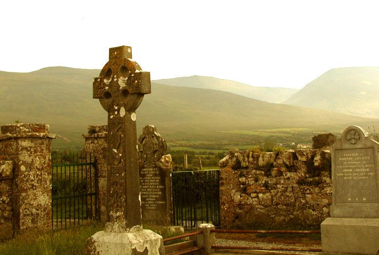 Burial ground on the Dingle Peninsula near Tralee