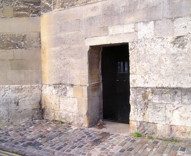 Ancient mysterious Oxford door