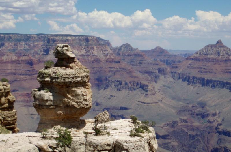 Darth Vaderish rock at the Grand Canyon