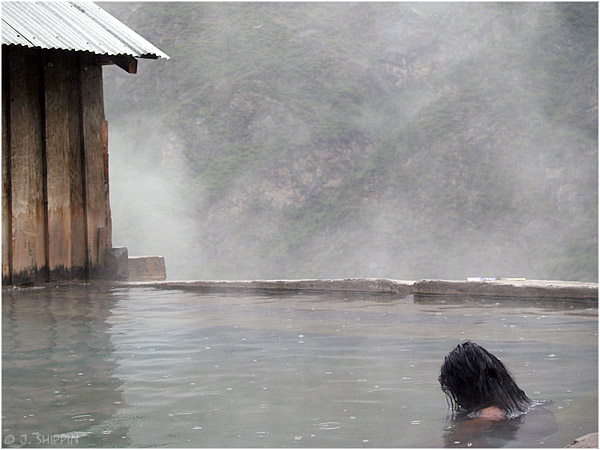 The hot springs in Khirigangah, a small place deep in the Parvati valley, northern india.