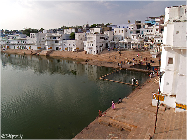 Holy lake of Pushkar, Rajasthan.