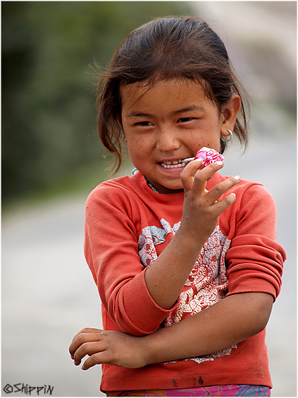 Girl from village in the distant Nubrah valley in Ladakh,