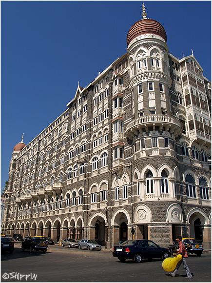 Luxurious Taj Mahal hotel, Mumbai.
