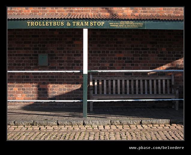 Trolleybus & Tramstop, Black Country Museum