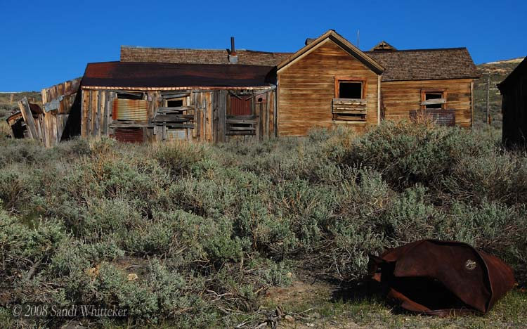 Oil Drums Become Art... in Bodie