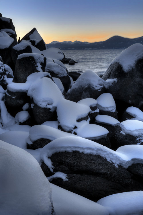 Snow Capped Boulders