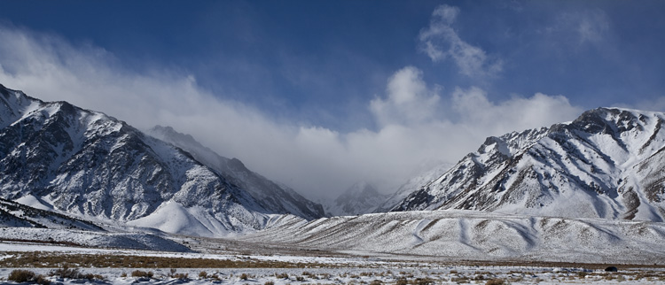 Clouds Roll Over the Eastern Sierras