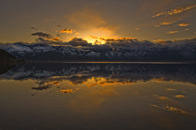 Golden Moment at Washoe Lake