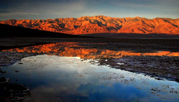 Badwater First Light Reflections