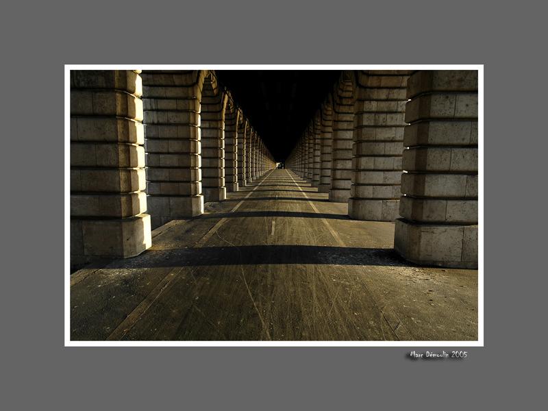Bercy, under the subway bridge