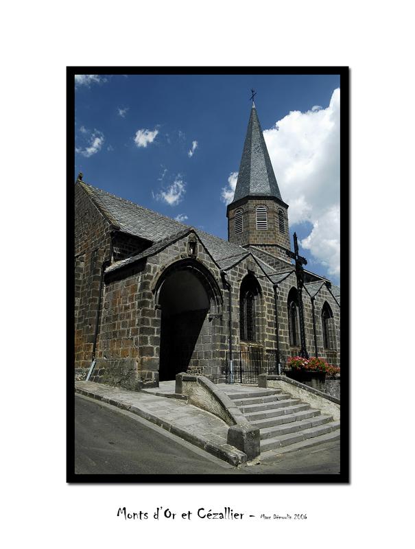 Besse-en-Chandesse, the church