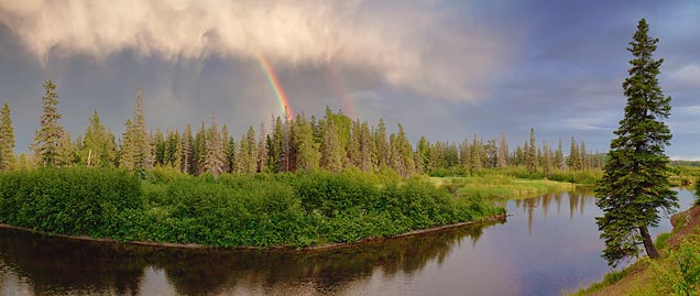 Magpie River Partial Rainbow 03171-3