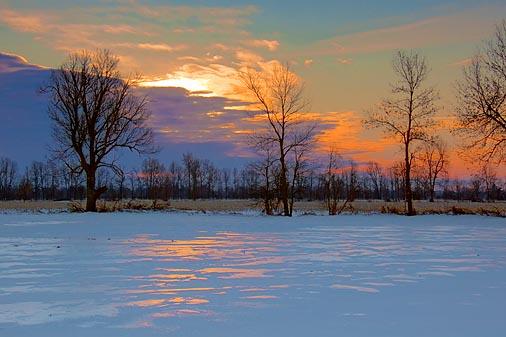Icy Sunrise Reflections 20100125