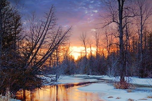 Thawing Jock River At Dawn 20100311