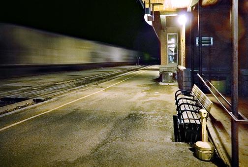Train Station At Night 20101109