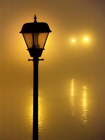 Canal Lights On A Foggy Night 20101116