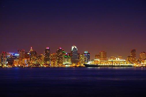 San Diego Skyline At Night 24135