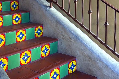 Tile Stairs & Iron Railing 20060111