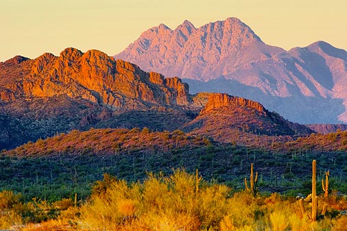 Four Peaks At Sunset 20060213