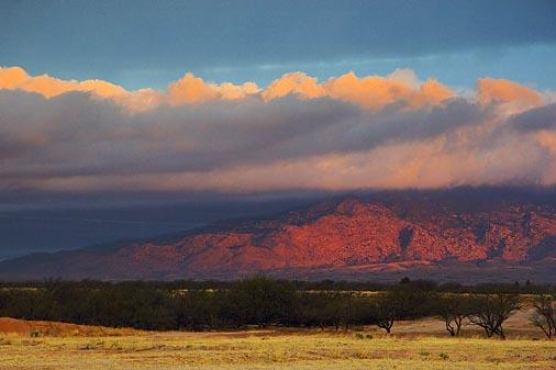 Rincon Mountains At Sunrise 30810