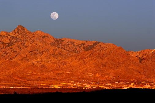 Moon Over The Organ Mountains