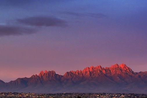 Organ Mountains In Sunset 20060318