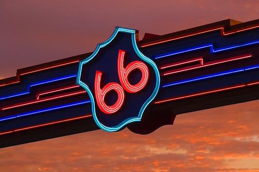 Route 66 Overhead Sign 32529