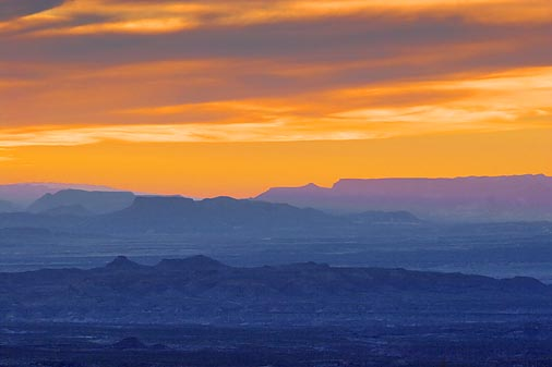 Big Bend At Sunset 7628