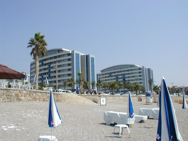 The beach hotels