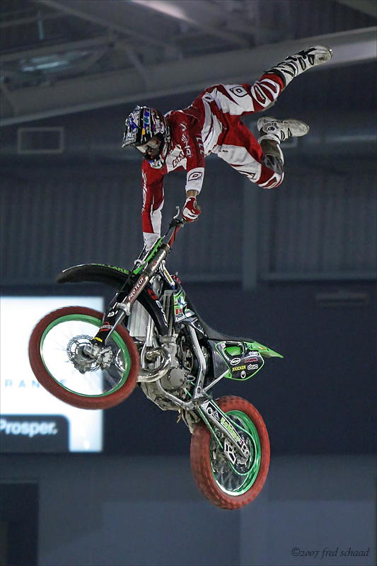 indoor motocross stunt show photo barbara read and fred schaad