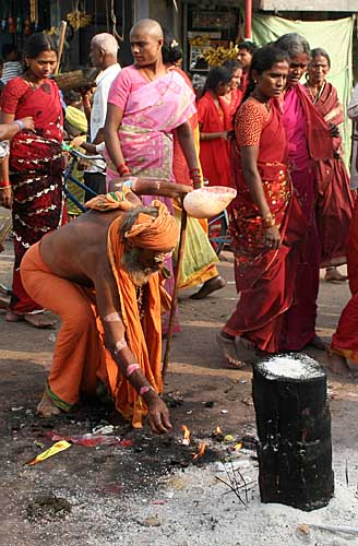 In front of Samayapuram Mariamman temple, Tamil Nadu. http://www.blurb.com/books/3782738