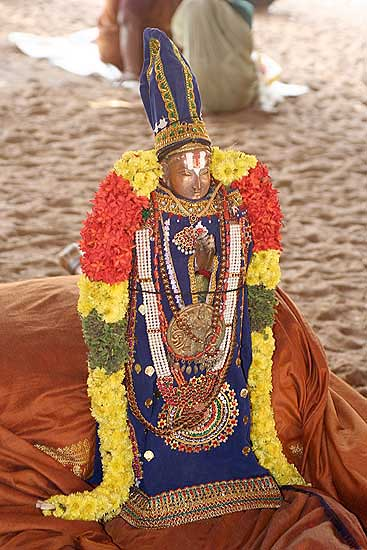 A god from Sri Ranganatha temple in Srirangam, Tamil Nadu.