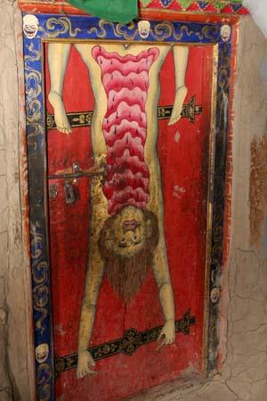 Door of the Mahakala room in Comic Spiti