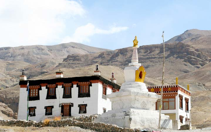 The 4400m high monastery in Kibber