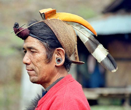 Nyishi with typical hornbill cap
