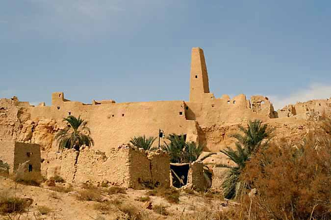 The Oracle of Siwa visited by Alexander the Great.