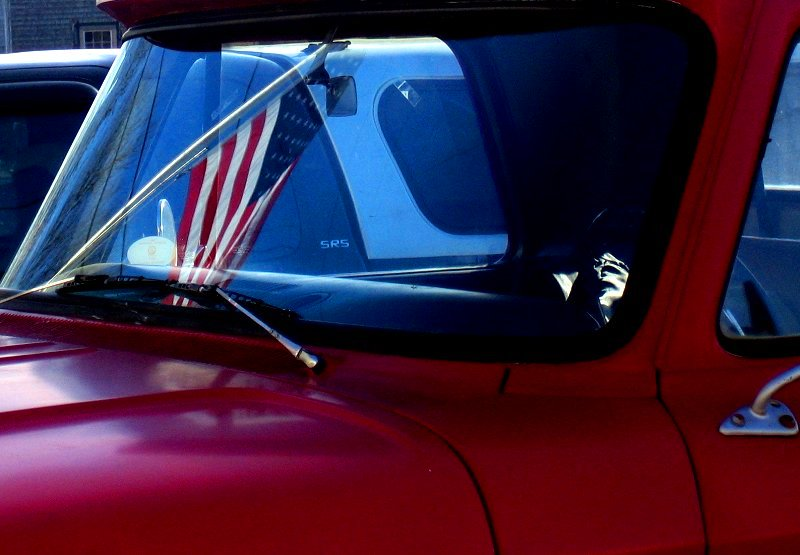 Truck and Flag