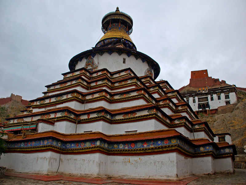 The great Kumbum Stupa completed in 1427AD